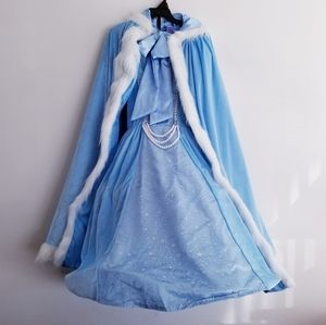 Cinderella Costume Dress & Cape